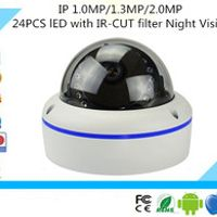 Luckertech 24PCS lED 1.0MP/1.3MP/2.0MP IP Audio Camera ONVIF with IR-CUT filter Night Vision IP POE Camera P2P Plug and Play