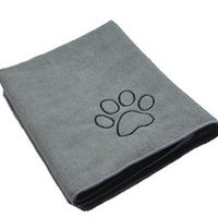 """SINLAND Ultra Absorbent Microfiber Pet Towel with Embroidered Paw print 30""""x50"""" 3 Colors"""
