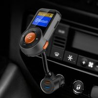 Car MP3 Player QC3.0 Fast Charge Car Charger TF Card Music aux Audio Output Bluetooth FM Transmitter Bluetooth Car Kit