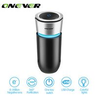 Onever Ionizer Air Freshener In Humidifier for Car Home Air Purifier with Colorful