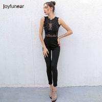 Joyfunear Sexy stitching Clothes 2016 Long Sleeveless Women
