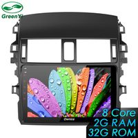 9 inch 8 Core Android 6.0 Car Radio DVD player GPS Navi For Toyota Corolla 2009-2013, Support DVR TPMS OBDII Camera SIM Card