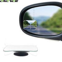 2Pcs 360 Degree Car Mirror Wide Angle Round Convex Blind Spot Mirror For Parking Rear View Mirror Rain Shade
