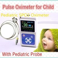 2016 hot! CE Pediatric Child Kids Color Handheld Pulse Oximeter Spo2 Monitor +Software USB Interface