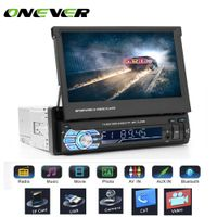 "Onever 7"" Retractable Autoradio GPS Bluetooth Navigation Car Stereo MP5 Player"