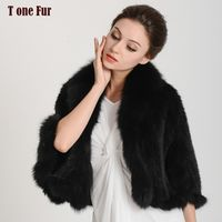 2017 New Arrival Real Mink Fur Shawl Natural Knitted mink fur cape Genuine Fur scarf KDH137