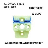 DR x2 FOR VW GOLF MK5 WINDOW REGULATOR REPAIR KIT SLIDING CLIPS FRONT LEFT NEW 2003 -