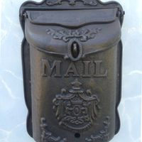 Heavy Wall Mounted Cast Mailbox Metal Mail Wrought Iron