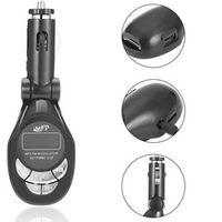LESHP 4 in1 LCD Auto Car MP3 Player Wireless FM Transmitter Modulator with USB CD MMC