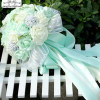SexeMara 5 Colors Green Mint Maid Honor Artificial Flowers