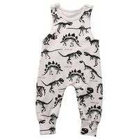 Baby Boy Girl Clothes Children Summer Sleeveless dinosaur  Romper Cotton Jumpsuit Outfit Casual Sunsuit