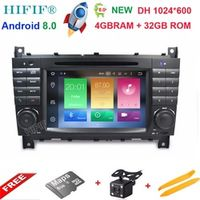 """HIFIF 7"""" 2 Din Quad Core Android 8.0 Car DVD GPS For Mercedes/Benz C Class W203"""