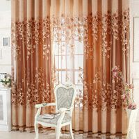 Luxurious Upscale Jacquard Yarn Tulle Voile Door Window