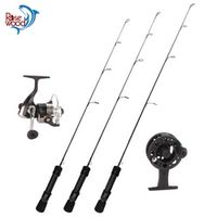 New High Carbon ice fishing rod and reel combo with tackle for winter 24UL 25L 26ML ice rod spinning ice fishing reel pesca
