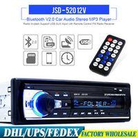 KONNWEI DHL Fedex 10PCS JSD-520 12V Bluetooth Stereo FM Radio MP3 Audio In-Dash