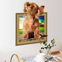 NAI YUE 1PC Creative Lovely Pet Dog Puppy Listening Wall