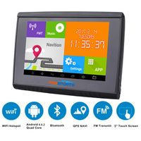 2017 Updated 5 Inch LCD Android 4.4.2 WIFI 512M RAM 8GB Flash GPS Navigation Bluetooth Waterpoof Navigator For Motorcycle/Car