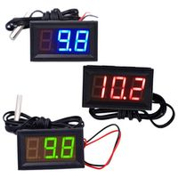 JUANJUAN Digital 12V Temperature Monitoring tester Thermometer With Temp Probe LED