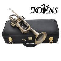 kolns High Grade Antique Bb trumpet horn with mouthpiece case