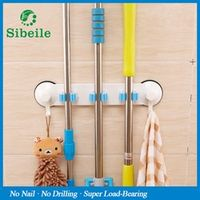 sibeile weiyu SBLE Wall Mounted Hanger 3 Position Kitchen Storage Mop Tool Plastic