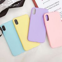GXE Candy Color Matte Phone Case 7 Plus 6 6s 8 5 5s SE For iPhone XS MAX X XR Simple