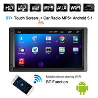 KKMOON 2 Din Android 5.1 Car Radio Player with GPS Navigation 7 inch HD Touch Screen