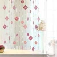 handmade Crystal bead Simulation leather Screen partition