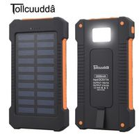 Tollcuudda 10000mAh Waterproof Portable Solar Dual USB Battery Power Bank For iPhone