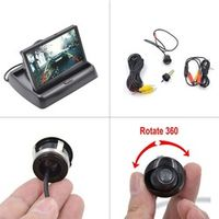 OTERLEEK Folding 4.3 inch Car Rearview with Car Rear View Camera Parking Assistance