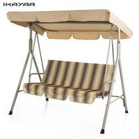 iKayaa 3 Person Seater Patio Canopy Glider Outdoor Porch