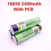 3PCS LiitoKala Protected NCR18650B 18650 Rechargeable battery 3400 mAh with 3.7V PCB