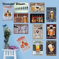 Younger Decor Cheeers Drinking Wine From Beer Poster