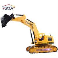 RC Excavator  Caterpillar Digger Remote Control Crawler Construction Truck Engineer Electric  Toys