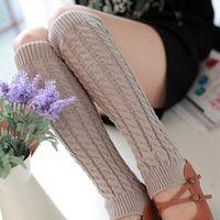 Naiveroo Womens Girl's Knee High Knit Crochet Winter