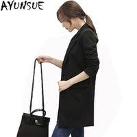 AYUNSUE Ladies Black Blazer Feminino Plus Size 4XL Women