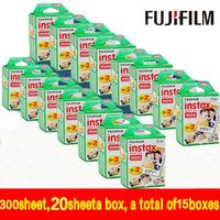 300 sheet Instax Mini 8 for Fujifilm Instant 7s 25 50s 90 Camera Fuji Instax White
