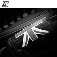 ZD 1Pc Car Handbrake cover cases British rice pennant Leather sets for Citroen c4
