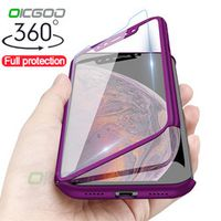 OICGOO Luxury 360 Full Protection XS MAX XR X Case For iPhone 6 6s 7 8 Plus 5 5S SE