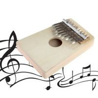 TSAI Hot 10 Keys Kalimba Mbira Likembe Sanza Thumb Piano Pine Light Yellow Instrument