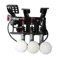 "MOFE racing 0.75"" Master Cylinder Hydraulic Pedal Box Kit Clutch Brake Bias Floor"