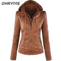 OHRYIYIE Plue Size 7XL Leather Jacket Women 2018