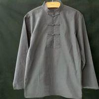 5color full cotton malee tang suits lay meditation clothing martial arts tai chi shirts wing chun kung fu uniforms white/grey