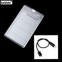 kebidu SATA Hd Box Hard Disk Drive External HDD Enclosure Transparent Case USB 3.0