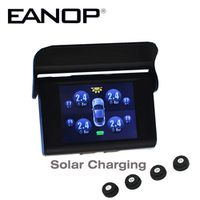 EANOP Car Solar LCD Type Pressure Monitoring System Tpms Guage Diagnostic Tool