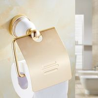 Europe Style Bathroom Gold Finish Creative Toilet Paper Holder /Fashion Space Aluminum Material Toilet Roll / Bathroom hardware