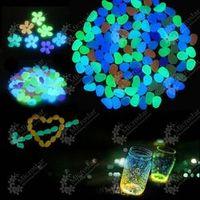 100pcs/lot Garden Ornaments Glow In The Dark Luminous