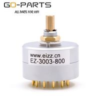 QZET GD-PARTS EIZZ 3 Way 3 Position Rotary Switch Signal Source Selector Aluminum