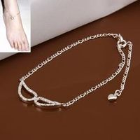 2016 silver plated  pulseras pie foot bracelets for women Crystal Mask foot jewelry anklet