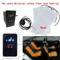 water carbon 2 Seats 4 Pads Universal Carbon Fiber Car Heater 12V 2 Dial heating