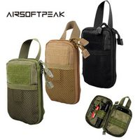 AIRSOFTPEAK Military Molle EDC Mesh Tools Accessory Pouches Tactical Waist Hunting